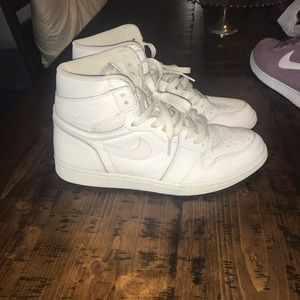 Jordan 1 White Perforated